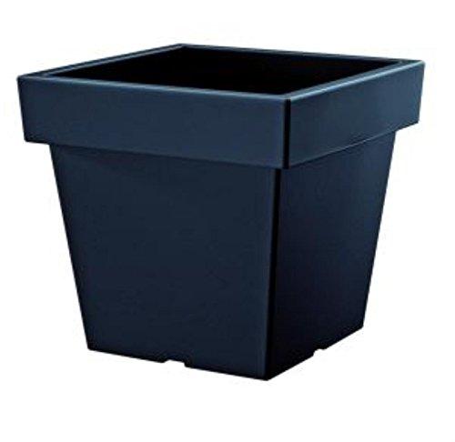 Prosper Plast Dlofl300-s433 28.9 x 28.9 x 27.1 cm Lofly carré Faible Pot à Fleurs Anthracite (12 pièces)