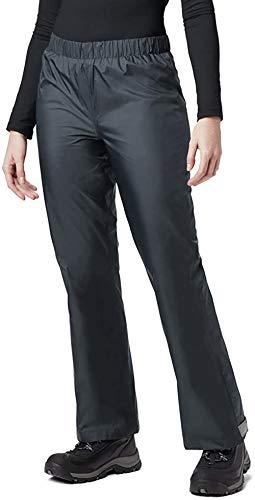 BenBoy Damen Regenhose wasserdichte Winddicht Atmungsaktive Wanderhose Outdoorhose YK5411W-Grey-XS