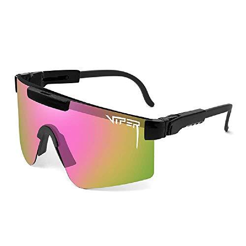 HAOQI Ligeras Irrompible Gafas,Deportivas Ciclismo Pesca Aire Libre Deportes Viajes Esquiando Mujer,Hombre Polarizadas Protección UV Gafas De Sol-K 16x6.5cm(6x3inch)