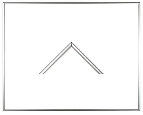 RahmenMax Iowa Kunststoff-Bilderrahmen 59x84 cm Posterrahmen 84x59 cm Farbwahl jetzt: Silber mit 1 mm Acrylglas klar