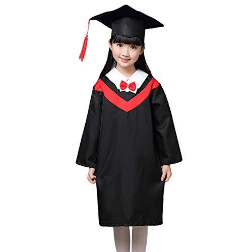 HengST Birrete de Graduación Infantil y Primaria Bata de Graduación para Niños Kindergarten Graduación Toga y Birrete con Set
