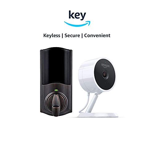 Kwikset Convert Smart Lock Conversion Kit + Amazon Cloud Cam | Key Smart Lock Kit (Venetian Bronze)