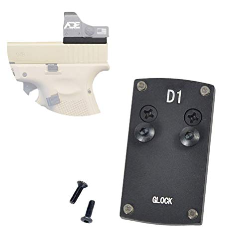 Glock Sight Mount Plate - Glock 17 19 22 23 26 27 34 35 37 41 Mounting Plate for Mini Red Dot Sight, Pistol Handgun Glock Mount Plate Base for Red dot Burris Sightmark Vortex Venom Tactical Hunting