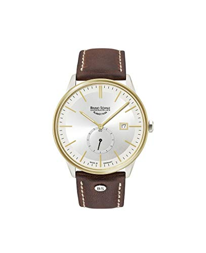 Bruno Söhnle Herren Analog Quarz Uhr mit Leder Armband 17-23182-241