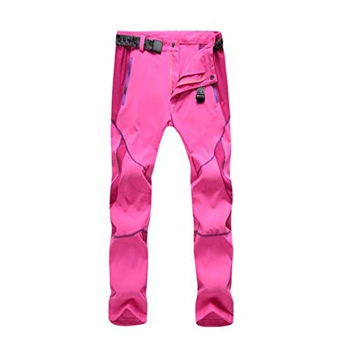 HoneybeeLY Outdoor Hose, schnelltrocknend, große Größe, Outdoorhose für Outdoor-Sport, Rosa, M