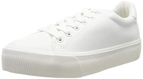 Urban Classics Damen Plateau Sneaker, Blanco, 41 EU
