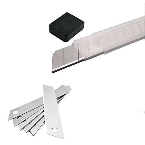 Alaskaprint 100x Stück Abbrechklingen Ersatzklingen 18 mm für Cuttermesser Teppichmesser Cutter Klingen