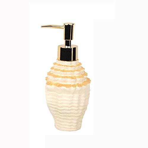 WGGTX Dispensador de jabón para Ducha Creativo Sencillo dispensador de jabón de baño Ware Emulsión Gel de Ducha de cerámica Jabón detergente dispensador de jabón Hotel, Aseo