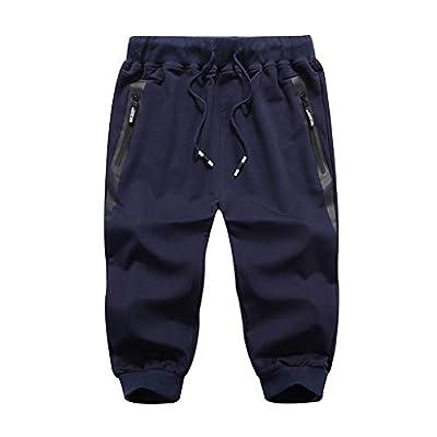 JustWin Men's Summer Beach Sports Cropped Pants Summer Comfort Sports Beach Calf-Length Pants