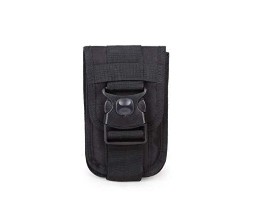 Kinhevao – Bolsa de deporte Molle Vintage, utilidad de bolso, cintura pequeña, bolsa de transporte, bolsa de deporte para exterior, gadget bolsa universal cinturón funda para teléfono móvil Holster Soporte Travel P, negro
