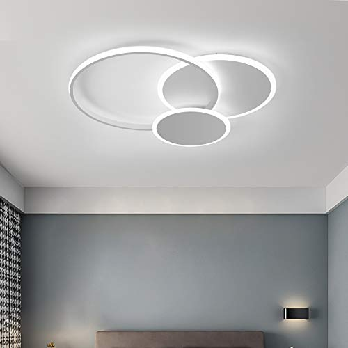 Qcyuui Lámpara de techo LED de 32 W, con pantalla acrílica, círculo cerca de techo para sala de estar, comedor, dormitorio, cocina,...