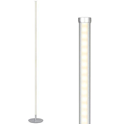 EDISHINE Dimmbare LED-Stehlampe mit Fußschalter, Warmweiss 3000K Stehleuchte, Modernes Design, Schlanke Hohe Lichtsäule, für Wohnzimmer, Schlafzimmer und Büro