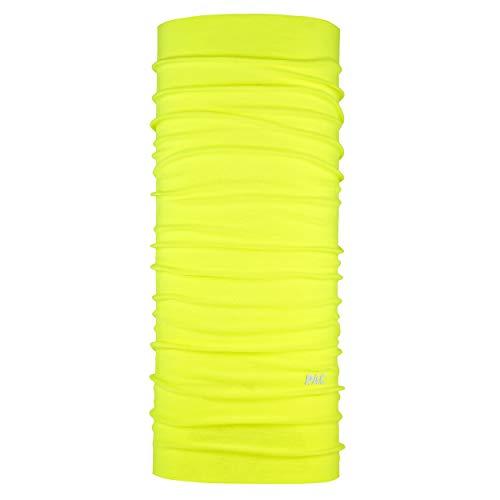 P.A.C. Solid Colours Multifunktionstuch - Outdoortuch, Skituch, Halstuch, Schlauchtuch, Schal, Kopftuch, Stirnband, verschiedenste Designs, Unisex, 10 Tragevarianten