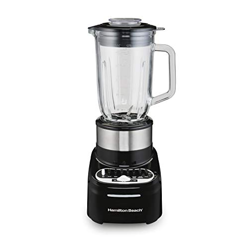 Hamilton Beach Multi-Mix Blender with 40oz Glass Jar and 14-Functions for Grinding, Puree, Ice Crush, Shakes and Smoothies, 800 Watts, Stainless Steel (54210)