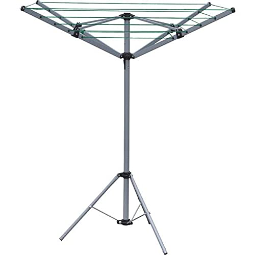 PORTABLE ROTARY CLOTHES DRYER CAMPING 4 ARM 16M FOLDABLE COMPACT WITH TRIPOD