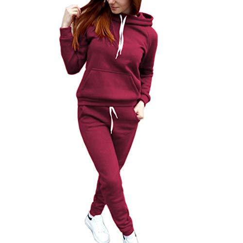 Gaoguan Simple Women's Autumn Sports Suit Suit - Conjunto de sudadera con capucha y pantalones para ejercicio