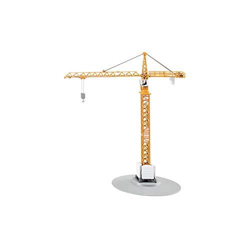 SIKU 1899, Turmkran, 1:87, Metall/Kunststoff, Gelb, Höhe von 40 cm, Bewegliche Teile