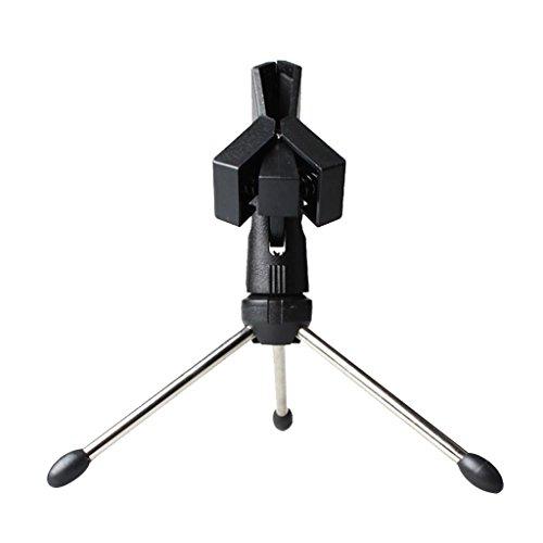 Mesa De Escritorio Trípode De Metal Ajustable Sujetador del Micrófono Micrófono Clip De Pie...