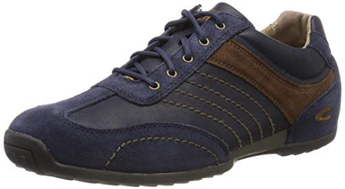 camel active Herren Space 36 Sneaker, Blau (Midnight/Tobacco 2), 43 EU