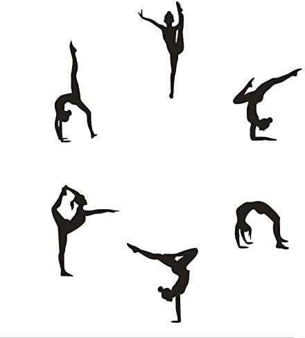 Gymnastics wall stickers