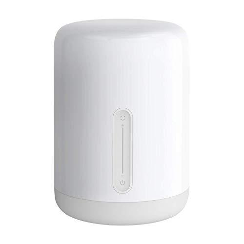 Xiaomi Mi Smart Bedside Lamp 2 Nachtkastje, stemmings- en sfeerlamp (dimbaar, 16 miljoen kleuren vrij te kiezen, iOS/Android App-verbinding via Mi Home App, ondersteunt spraakassistenten bijv. Amazon Alexa)