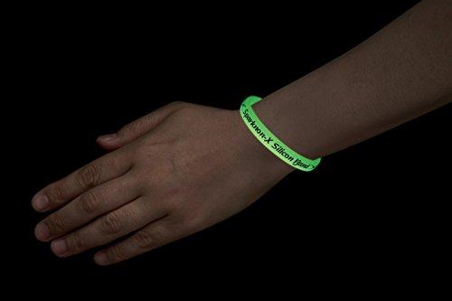 『スパークノンX シリコンバンド ライト ( 蓄光 ) クリア M』の3枚目の画像