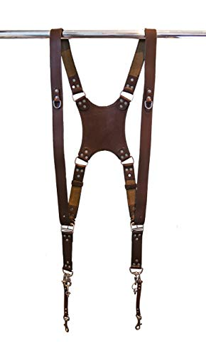 Dual Leather Camera Harness  Camera Strap Accessories for Two-Cameras  Camera Gear for DSLR/SLR by Trendy Camera Crew