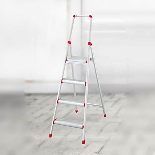 AMBH metalen trapladder staande ladder multifunctionele ladder stoel vouwhuishouden kruk met leuning trapladder voor volwassenen 4.15