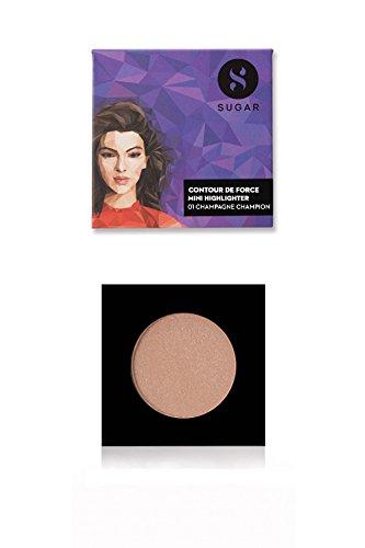 SUGAR Cosmetics Contour De Force Mini Highlighter - 02 Gold Glory (Golden Bronze) Lightweight, Easily Blendable, Illuminating Bronzer, Matte Finish