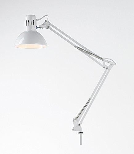 Lampada Da Tavolo Modello Architetto Colore Bianco - Misure H. 74 Cm - 1Xe27 Max. 60W - Lampada Modello Perenz 4025B