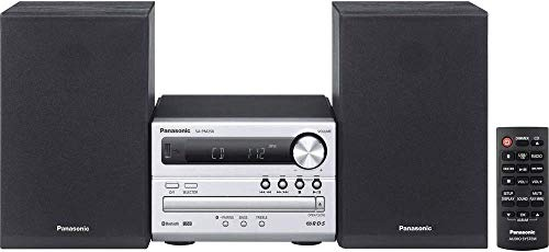 Panasonic SC-PM250EG-S Sistema Micro, CD, MP3, Radio RDS, USB, Bluetooth, 20 Watt RMS, Silver