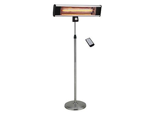 Traedgard® Estufa eléctrica infrarrojo por la terraza, con Mando a Distancia, Potencia eléctrica 1800 vatio, Altura 190 cm (Ajustable), 64579