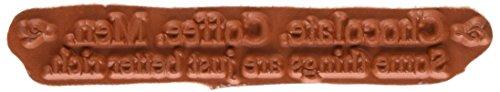 Riley & Compagnie Funny Bones en Caoutchouc Tampon étirable – 9,5 cm x à, Chocolat Café Hommes