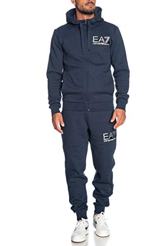 Emporio Armani EA7 Zwart Zip Up Hooded Tracksuit 6GPV57 PJ07Z