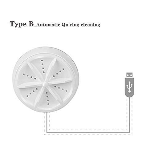 XIAOFEI Mini Ultraschall Waschmaschine Tragbare Turbo Personal Rotating Washer Bequeme Reise nach Hause Geschäftsreise USB, kleine Größe, leicht zu tragen,B