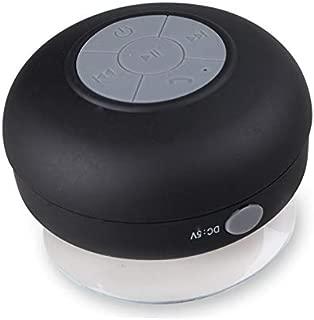 ZYZRYP Waterproof Wireless Bluetooth Speaker Portable Mini Speaker Shower Suction Cup Anti-drop Bathroom Bathing Child Small Speaker (Color : Black, Set Type : Speaker)