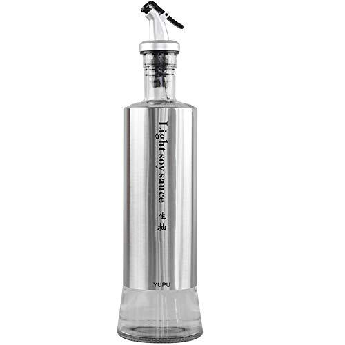 DS Rack Bottiglia di Olio - ampolla di Vetro a Tenuta stagna in Acciaio Inox && (Dimensioni : Light Soy Sauce)