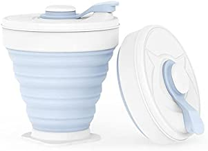 MNSD - Coffee Cups & Mugs - 20pcs Wholesale Folding Silicone Cup 350ML Portable Coffee mug Foldable Milk Cups Outdoors Tra...