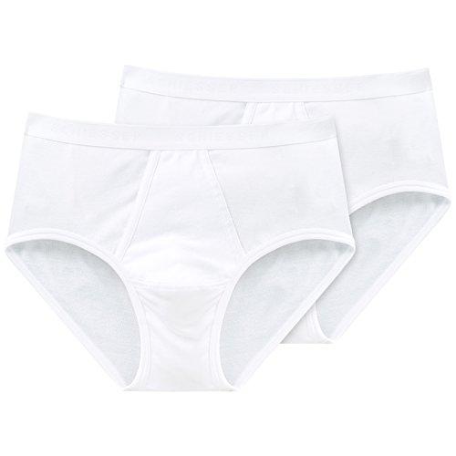 Schiesser Herren Slip Sportslip 2 er Pack 005136-100,Weiß (100-weiss) Gr. 5 (M)