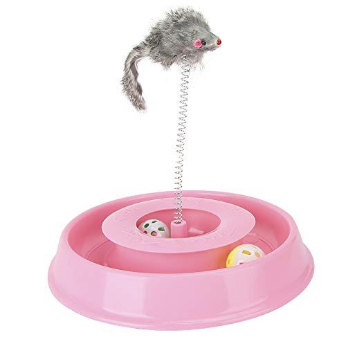 Bell Ball Divertido Juguete Duradero para Gatos, Juguete de Resorte para Gatos, Gatito para Juguete para Gatos,(Pink)