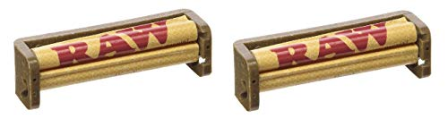 RAW 79 mm 1 1/4 Hemp Plastic Cigarette Rolling Machine (2 Pack)