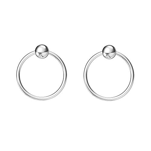 Sterling Cartilage Earrings Piercing Earring Nose Rings Hoop for Women Men Girls