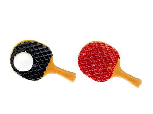 Miniblings Ping Pong Ohrstecker Stecker Sport Spiel Ball Tischtennis Schläger - Handmade Modeschmuck I Ohrringe Stecker Ohrschmuck