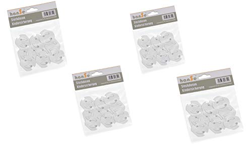 Steckdosensicherung Kindersicherung Steckdosenschutz Steckdose Steckdosen zum Kleben mit Drehmechanik (40 Stück)