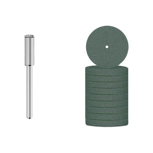10x Schleifstein Siliciumcarbid [Ø 20 x 3 mm] Schleifspitze für Dremel, Proxxon