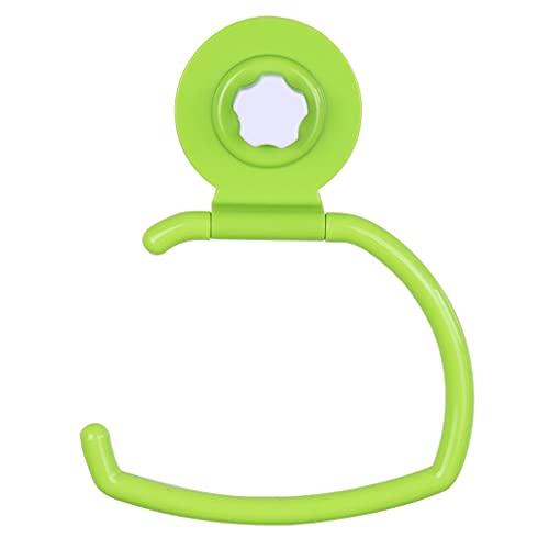 Soporte de Papel de Papel higiénico, Soporte de Papel higiénico montado en la Pared con Ventosa, Soporte de Papel de Seda Inodoro Multifunción (Color : Green)