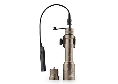 Night Evolution M600U - Lampada softair tattica LED, 450 lm, con interruttore di pressione e guida di montaggio Picatinny NE04025(Desert)
