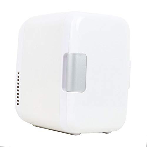 LCTCBX Mini Nevera, refrigerador eléctrico y calentador4 litros / 6 latas/Lata - para el hogar, Oficina, automóvil, Dormitorio o Barco - Compacto y portátil - Cables de alimentación DC12V (Azul) (ro