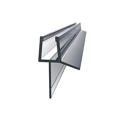 Heilmetz Duschdichtung 100cm für Duschtür Glasstärken von 4-6mm | PVC Dichtung Ersatzdichtung mit Wasserabweiser für Duschkabine & Glastüren