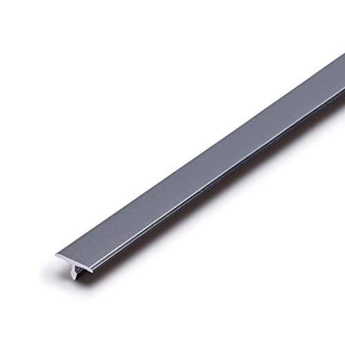 GWXFHT Afdekstrip laminaat deur T type vloer sierlijst aluminiumlegering anti-slip shresholstrepen vloerrandstrepen Doorway Blanking Strip, W8 * H1.1 * L900MM